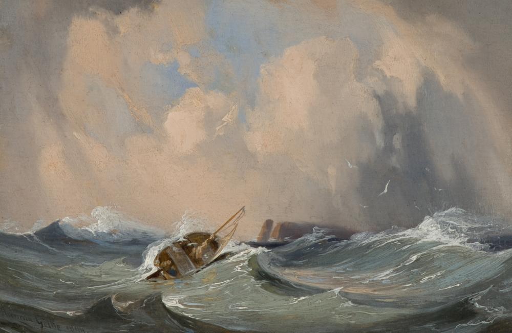 Heinrich Gätke -  Seesturm vor Helgoland