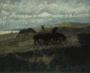 Paula Modersohn-Becker, Reiter mit zwei Pferden