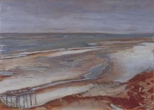 Max Beckmann - Strandlandschaft bei beginnender Flut