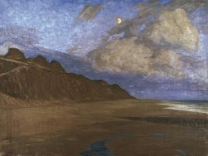 Fritz Overbeck - Dämmerung an der Küste