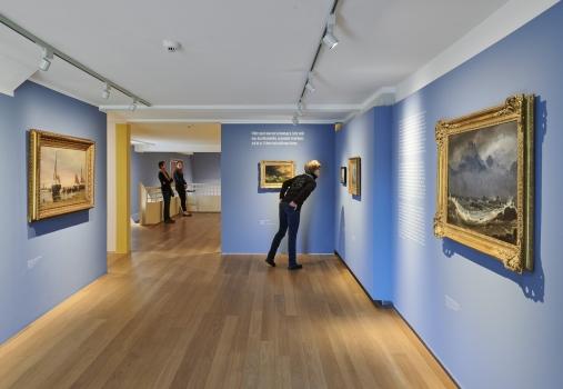 Ausstellungsansicht Seestücke. Von der Romantik bis zur Klassischen Moderne